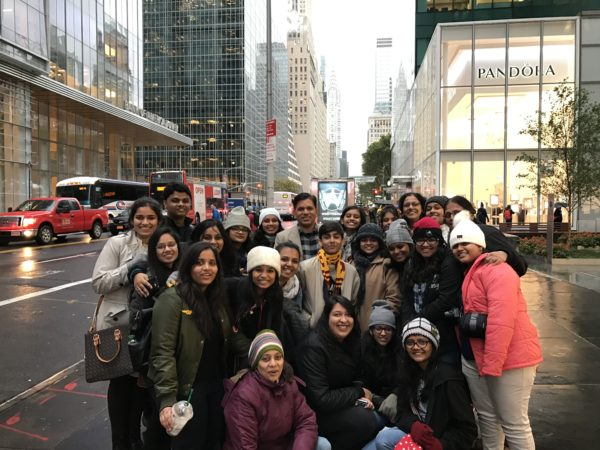 Students at Bryant Park