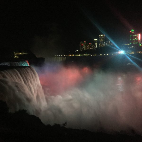 Lighted Niagara Falls, USA