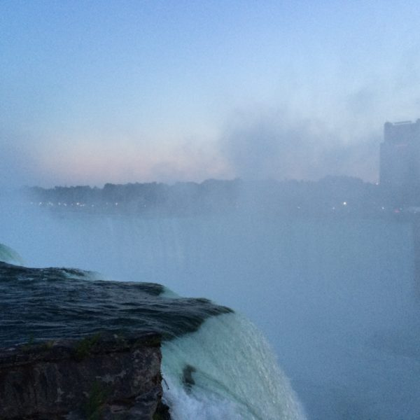 Evening at the Niagara Falls