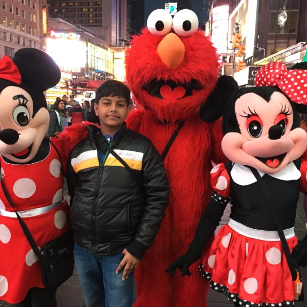Disney Characters at Times Square